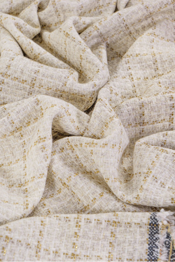 Chanel fabric - checkered beige