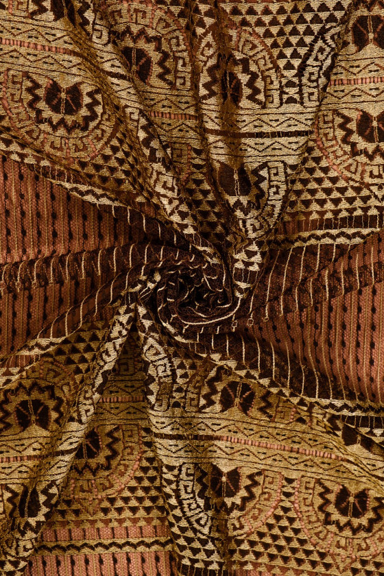 Brown-olive lace - narrow
