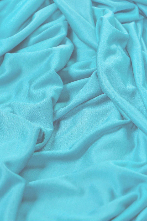 Viscose knit - bright turquoise