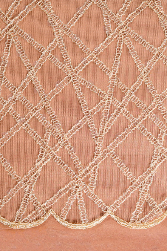 Beige lace with sequins - narrow
