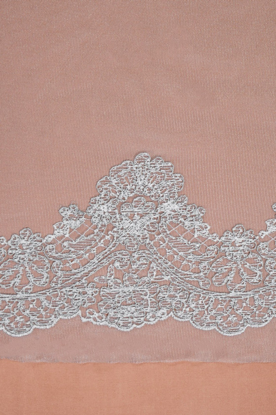 Tulle embroidered - silvery
