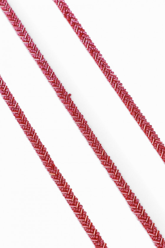 Tape with beads - red