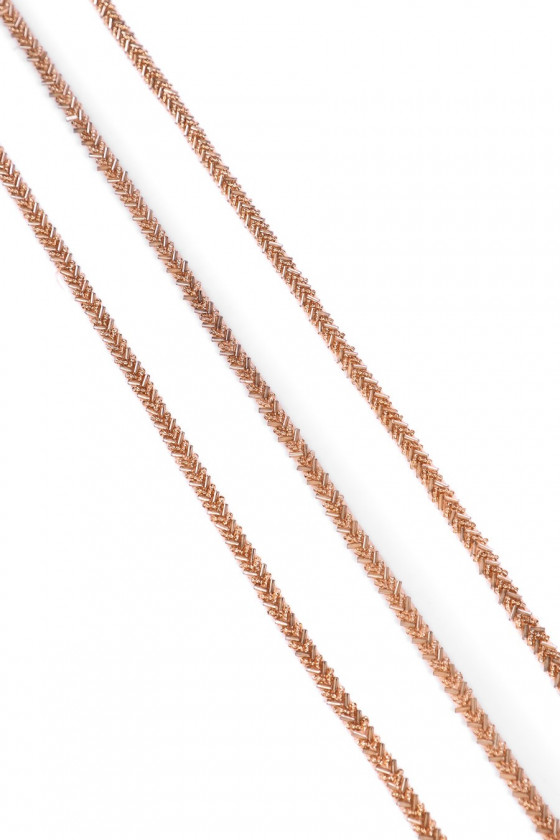 Tape with beads - beige
