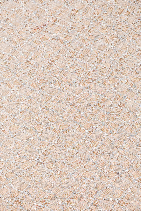 Grey-silver lace with sequins