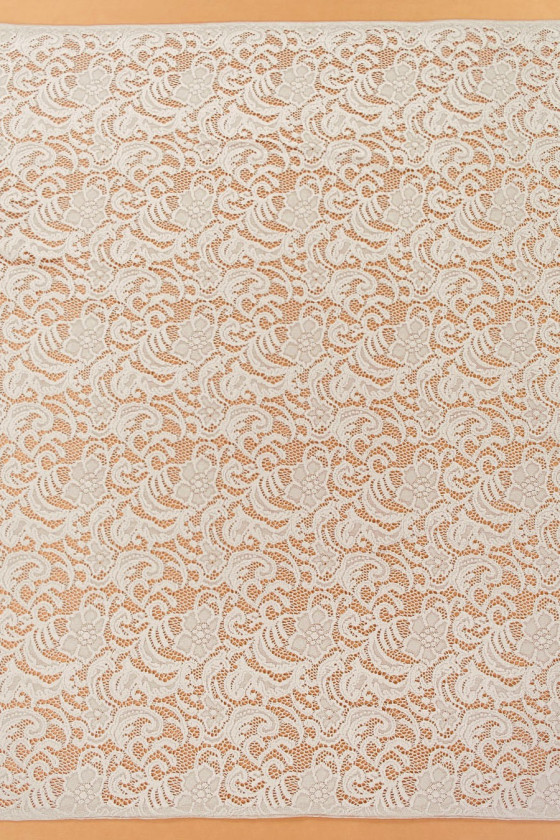 Lace in flowers - cold beige