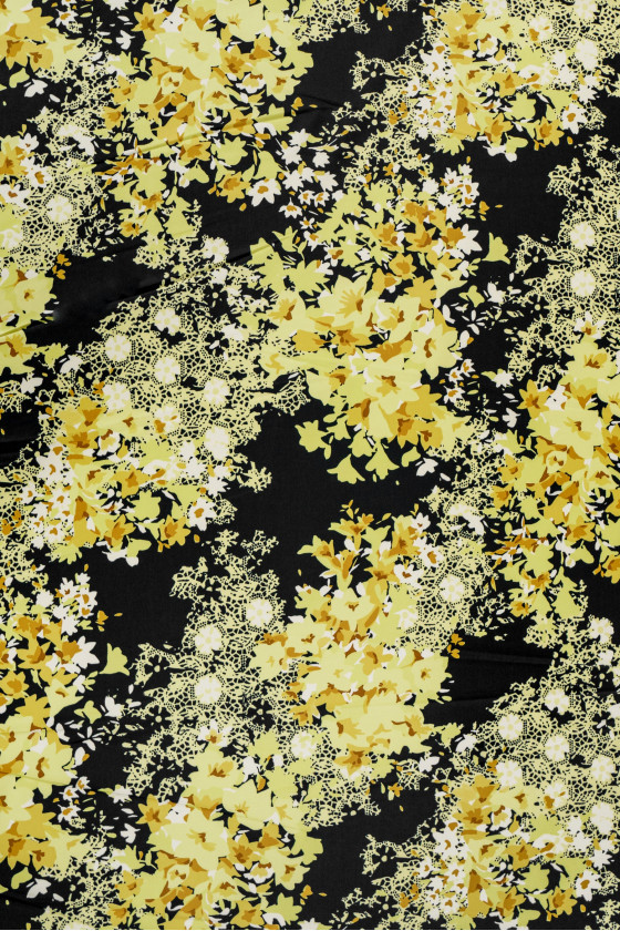 Cotton in yellow flowers