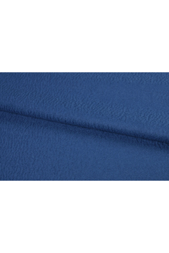 Coat fabric wool with cashmere blue