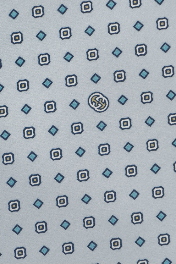 Shirt cotton - gray in a fine pattern