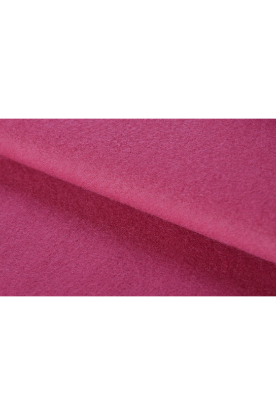 Coat fabric wool with cashmere dark pink