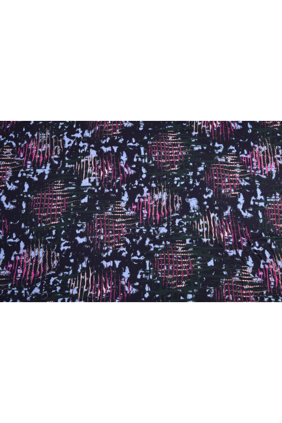 Patterned wiscoz knitted fabric