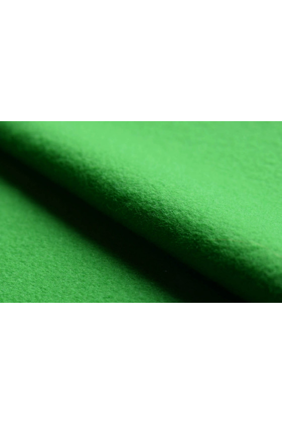 Coat fabric wool and green cashmere