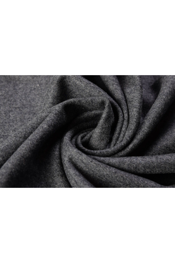 Coat fabric wool with gray cashmere