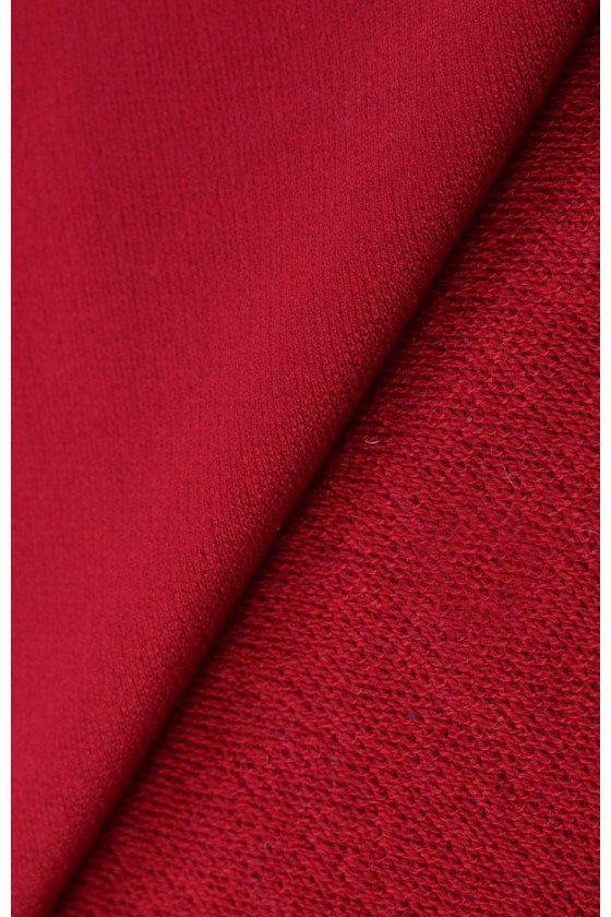 Knitted tracksuit - dark red