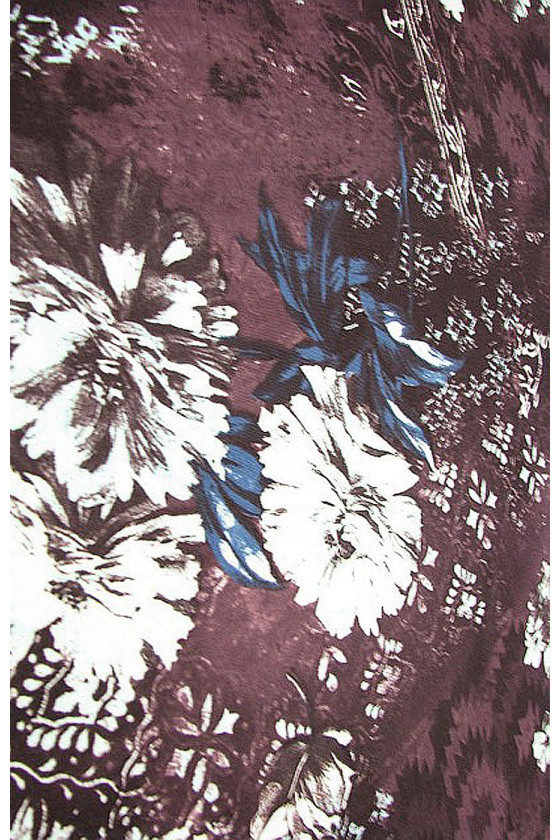 Viscose knit in flowers