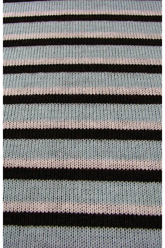 Striped sweater knitted