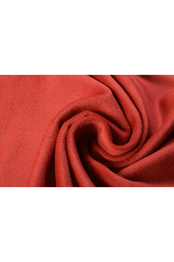 Coat fabric wool with red cashmere