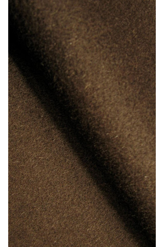 Coat fabric wool with cashmere brown