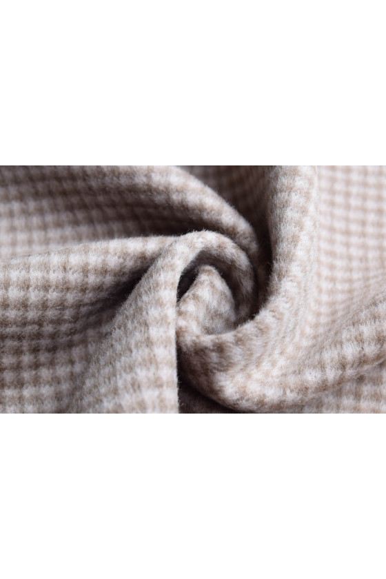 Coat fabric wool with cashmere plaid
