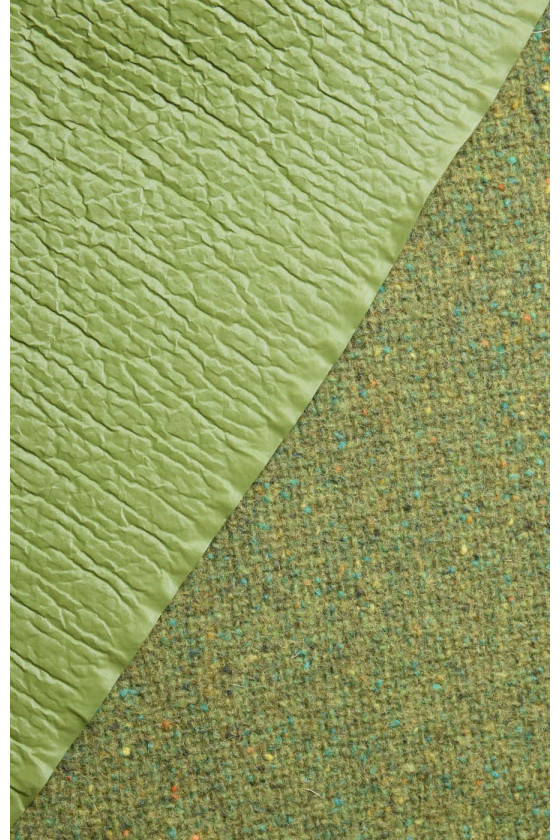 Coat wool with green membrane