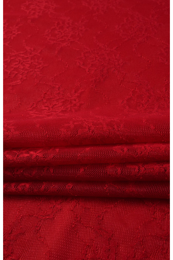 Elastic red lace