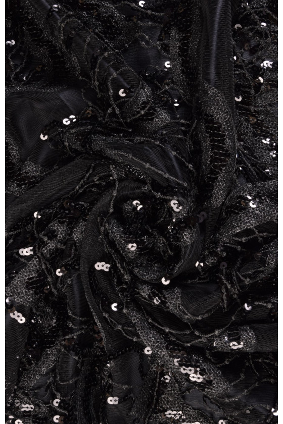 Tulle embroidered with sequins